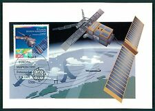 BUND MK 1991 EUROPA CEPT SATELLIT SATELLITE WELTRAUM MAXIMUM CARD MC CM /bs33