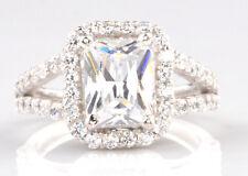 Weiß Gold 3,00 Karat Schick Form 585er Solide Echt Solitär Verlobung Ring