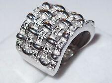 Platinum bond ring set with Diamonds (0.050ct), Size L.