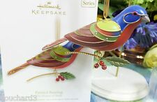 Hallmark Painted Bunting ornament 2012 8th in Beauty of the Bird Series