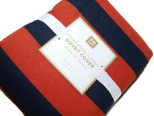 Pottery Barn Teen Multi Color Stowe Stripe Cotton Flannel Full Queen Duvet Cover