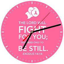 "8"" WALL CLOCK - Breast Cancer Awareness 2 Find Cure Pink Women Tatas Survivor"