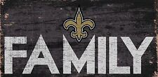 """New Orleans Saints FAMILY Football Wood Sign - NEW 12"""" x 6""""  Decoration Gift"""