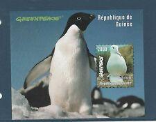 Guinée république  bloc  oiseau albatros greenpeace  1998  num : 131 **