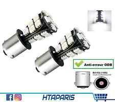 2 Ampoules BA15S R10W P21W CANBUS Marche Arriere BLANC WHITE 1156 21 SMD LED 12V