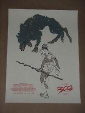 300 Tomer Hanuka movie poster art print Alamo Mondo Mondotees Frank Miller