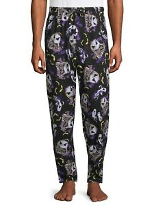 NEW Mens Nightmare Before Christmas Disney Lounge Sleep Pants Pajamas PJS Glow