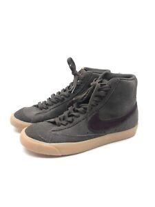 Pre Owned Nike Blazer Mid 77 Suede Velvet Brown US 8.5 Custom Purple Swopsh