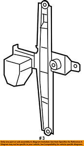 Jeep CHRYSLER OEM 07-15 Compass Rear Door-Window Lift Regulator 68002888AA