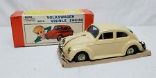 Mint In Box Vintage 1960's Bandai Battery Operated Volkswagen W/ Visible Engine