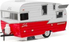 Greenlight 1/24 Shasta 15' Airflyte Camper Trailer Diecast Model Red White 18225