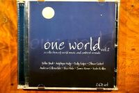 One World - Vol. 2, A Collection Of World Music And Ambient Sounds 2CD -  CD, VG
