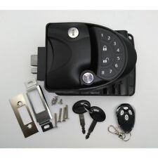 Black RV Keyless Entry Door Lock Latch Handle Knob Deadbolt NEW Camper Trailer