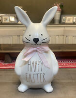 "Rae Dunn - HAPPY EASTER - Ceramic Bunny Table Top Decor - 12"" H"