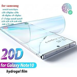 Screen Protector COVER For SAMSUNG Galaxy NOTE 9 8 S10 Plus S21 20 Hydrogel Film