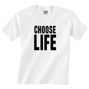 Children's CHOOSE LIFE T Shirt - Kids Boys or girls classic 70's tee