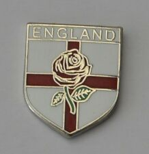 England Rose on George Cross Shield Quality Enamel Lapel Pin Badge