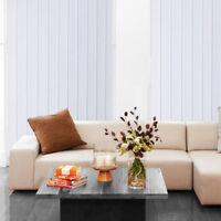 89mm Vertical Blind Slats Opus Fabric In White & Cream