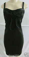 NWT KARDASHIAN KOLLECTION BLACK EMBROIDERY TOP SLEEVELESS DRESS SIZE LARGE