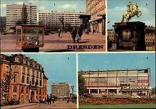 Dresden Sachsen DDR Mehrbild-AK ua. HOG Zwinger, Am Ring, Denkmal A. d. Starken