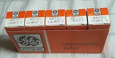 6072A GE General Electric Sleeve Of 5 - Black Plate NOS Tube 12AY7 6072 NIB