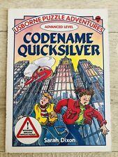 Vintage 90s USBORNE PUZZLE ADVENTURES Advanced Level Book CODENAME QUICKSILVER
