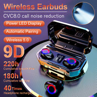 8000mAh Bluetooth 5.0 TWS Earphones LED Wireless Earbuds Noise Cancelling Stereo