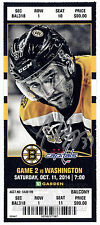 Patrice Bergeron Boston Bruins Signed Autographed 2014-15 vs Capitals Ticket S11