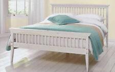 King Size Bed Frame 5FT Pine Wood Slats Headboard Footboard Bedroom Divans Beds
