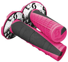 "Duece 2 Motorcycle Grips Pink/Black 7/8"" Scott 219627-1665"
