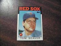 BOSTON RED SOX TOM SEAVER  1986 TOPPS TRADED BASEBALL CARD #101T MINT!!