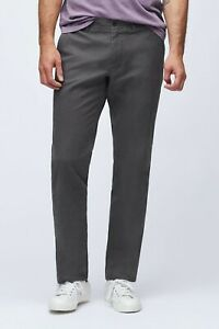 Bonobos Stretch Organic Cotton Chinos / Tailored / Dark Grey / Men's 34W x 28L