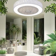 "20"" Acrylic Semi Flush Mount Light Ceiling Fan Bedroom Lighting Fixture Led Lamp"