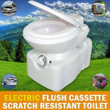 Caravan RV Cassette Toilet Scratch Resistant Swivel Access Electric Flush
