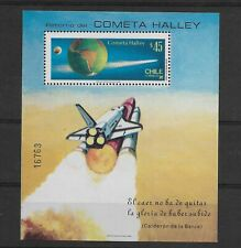 CHILE 1985 HALLEY COMET RETURN SOUVENIR SHEET SPACE SOUVENIR SHEET MNH