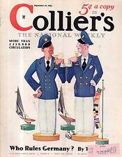 1934 Colliers September 15 - Yachting; Germany's Army; Bullfighting; J MacDonald