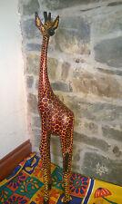 African Carved Wooden Giraffe (3ft)