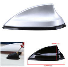 ABS Silver Shark Fin Style Car Roof Antenna Repalcement FM Radio Signal Receive