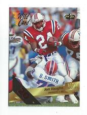 1993 Wild Card 20 Stripe #145 Jon Vaughn Patriots