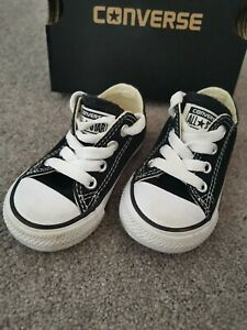 Unisex Girls Or Boys Infant Size 4 Converse Trainers Hardly Worn