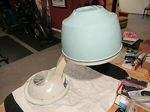 Vtg MCM GE General Electric Portable Salon Dome Style Bonnet Hair Speed Dryer