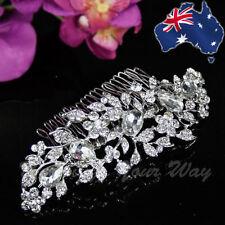 SALE Vintage Style Rhinestone Hair Comb Diamante Crystal Wedding Formal HC-10