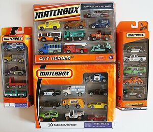#MB096 2 five packs and 2 ten packs - 30 Matchbox light trucks & other vehicles