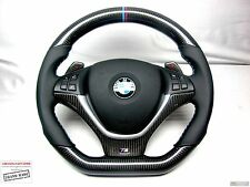 BMW E70 X5 E71 X6 Custom CARBON Flat Bottom+Top SMALLER Diameter Steering WHEEL
