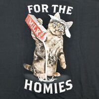 For The Homies Men's T-shirt Cat Pouring Milk Kitten Kitty Gangster Funny Satire