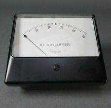 """Vintage Simpson Panel Meter 0-50 DC Microamperes Model 46262 - 4 3/4"""" x 4"""""""