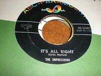 The Impressions 45 It's All Right ABC PARAMOUNT