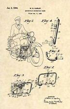 Official 1934 Harley Davidson US Patent Art Print- Vintage Antique Original 216