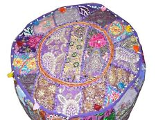 New Multi Color Pouf Cover Moroccan Footstool Vintage Patchwork Seat Ottoman