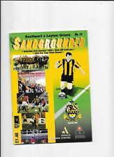 Southport v Leyton Orient FA Cup 3rd Round 2/1/1999